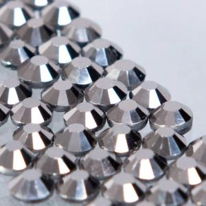 Hot-fix glittersten 4mm (Jet Hematite)
