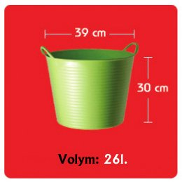 Tubtrug Medium 26L Grön