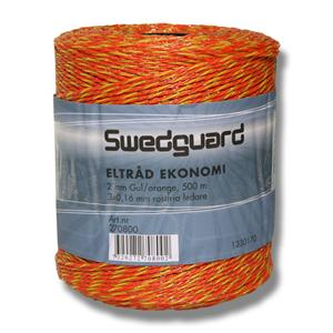 Eltråd ekonomi 2 mm gul/orange 500m 3x0,16mm