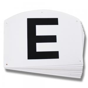 Bokstäver till dressyrbana 8 bokstäver (skylt)