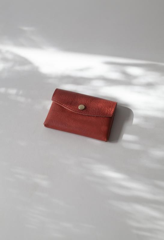 LEATHER WALLET BURNT ORANGE