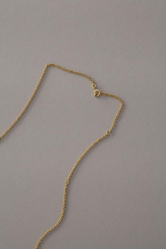 NECKLACE GOLD WITH HAMMERED DISK