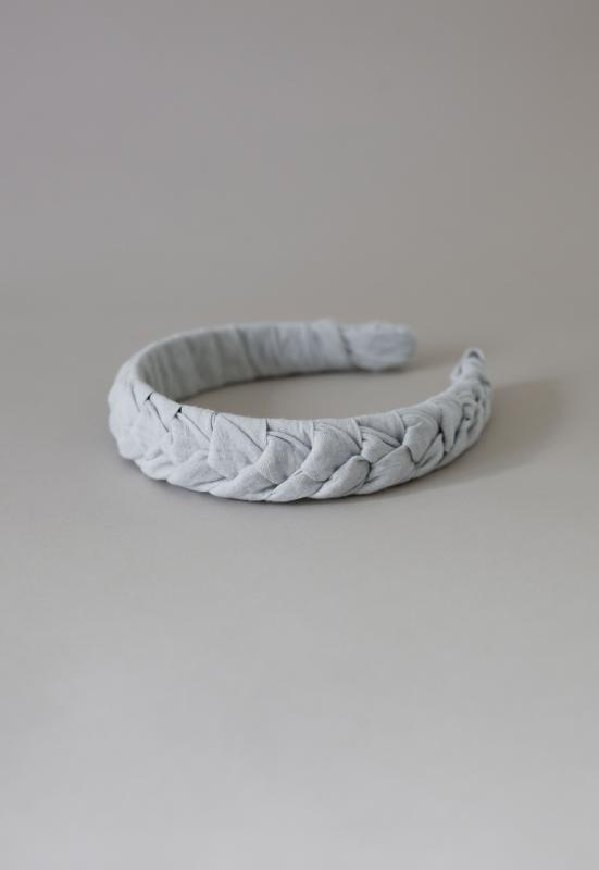 HEADBAND HELSINKI ATELIER BRAIDED GREY
