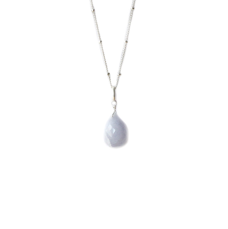 BRIOLETTE PENDANT SILVER AND BLUE LACE AGATE