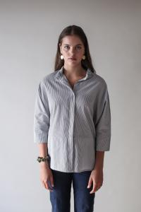 TUNIC SHIRT STRIPE L