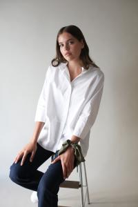 TUNIC SHIRT WHITE M