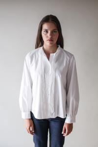 BOW BLOUSE WHITE M