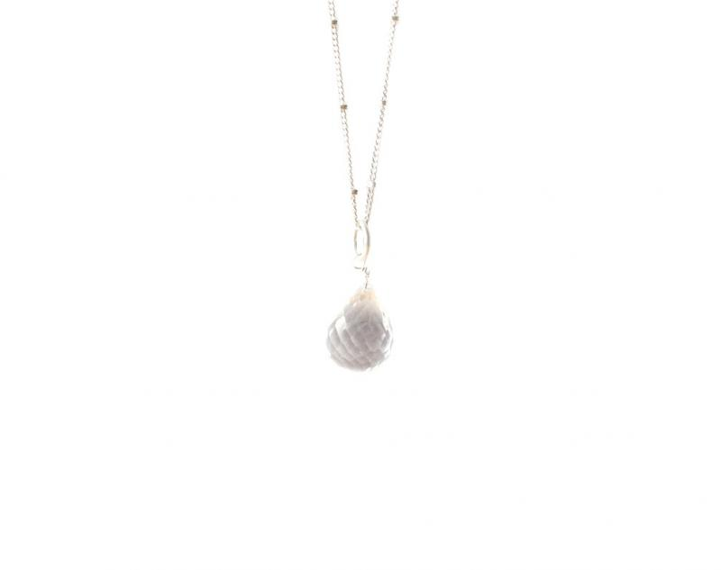BRIOLETTE PENDANT SILVER AND CLEAR QUARTZ