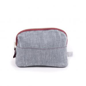 COSMETIC BAG LINEN BLUE SMALL