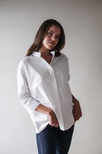 TUNIC SHIRT WHITE L
