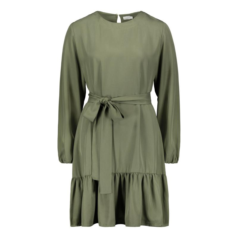 FRILL DRESS SAGE GREEN M