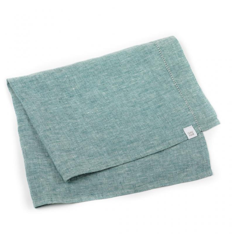 LINEN TEA TOWEL GREEN MELANGE
