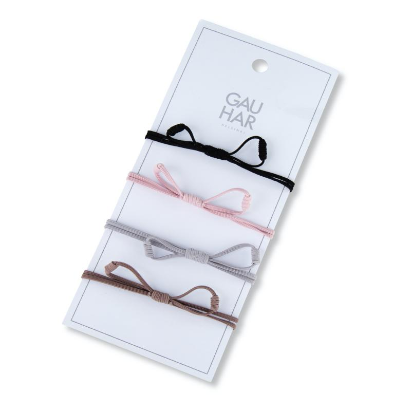 HAIR TIE SET MULTICOLOR BOW