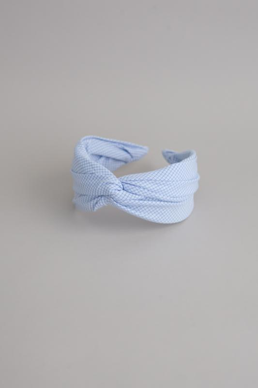 HEADBAND HELSINKI ATELIER CHECK LIGHT BLUE