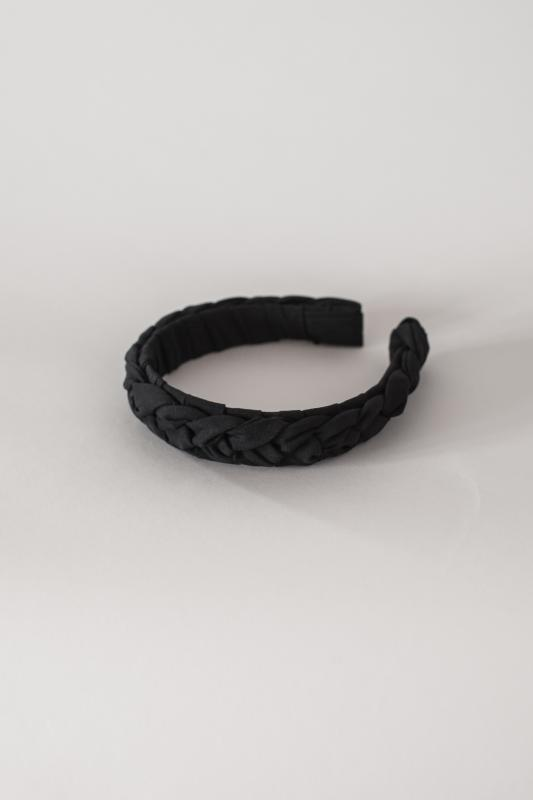 HEADBAND HELSINKI ATELIER BRAIDED BLACK