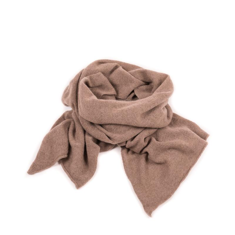 KNITTED CASHMERE SCARF BEIGE