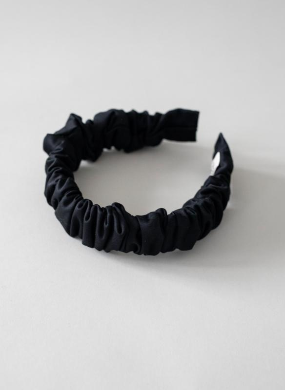 HEADBAND HELSINKI ATELIER RUFFLED BLACK
