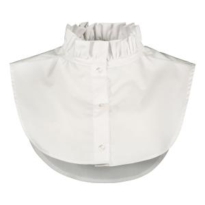 PLEATED COLLAR WHITE