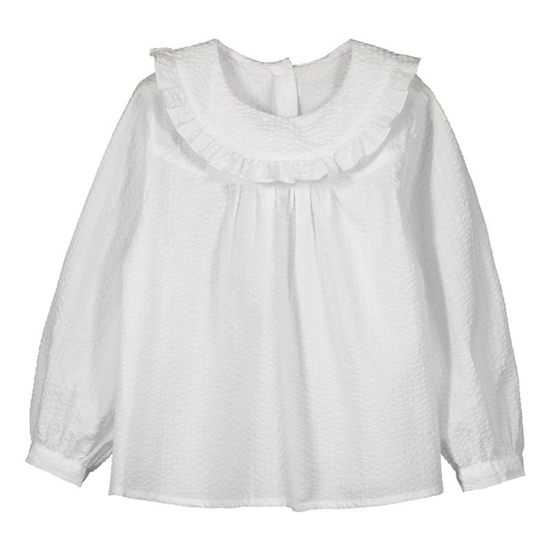FRILL TRIM SHIRT SEERSUCKER GIRLS