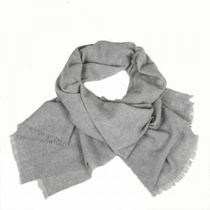WOVEN CASHMERE SCARF GREY