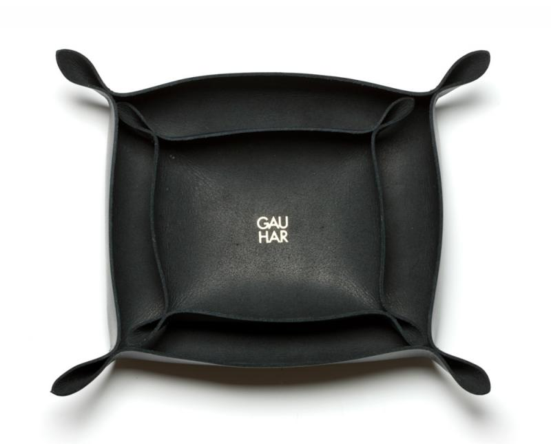LEATHER TRAY NAVY SMALL