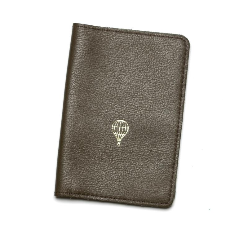 LEATHER PASSPORT COVER OLIVE