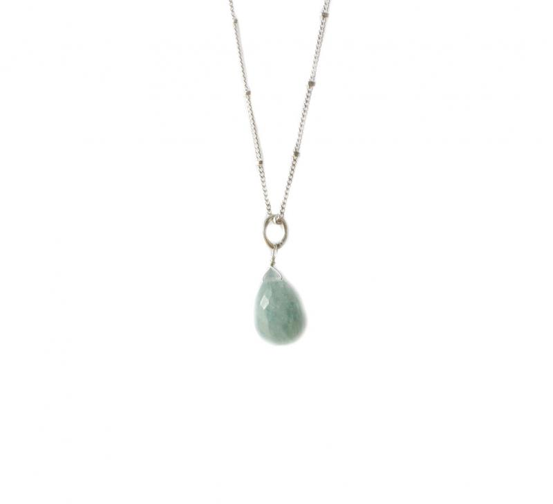 BRIOLETTE PENDANT SILVER AND AQUAMARINE