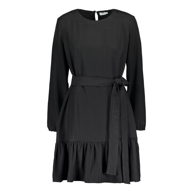 FRILL DRESS BLACK L