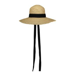 STRAW HAT WITH RIBBON