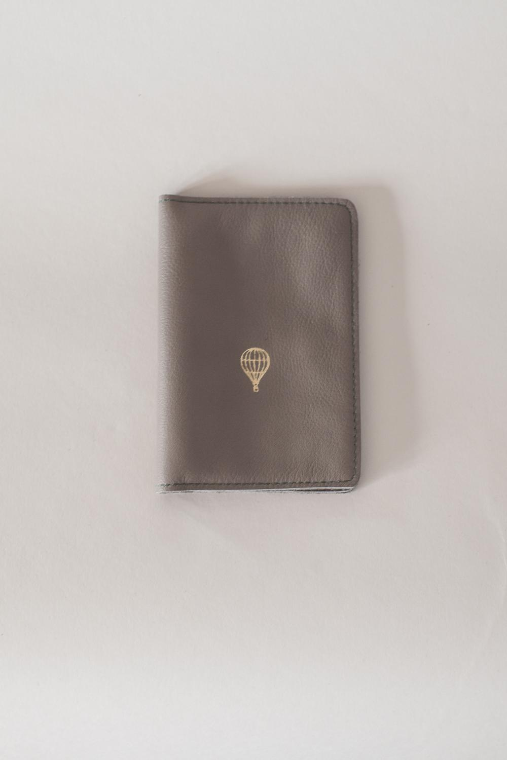 LEATHER PASSPORT COVER TAUPE