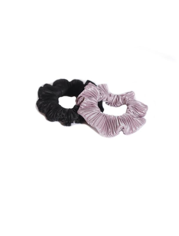 SCRUNCHIE SET BLACKBERRY