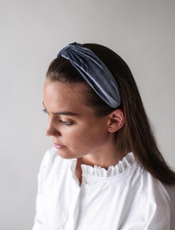 HEADBAND TWISTED SILVER BLUE