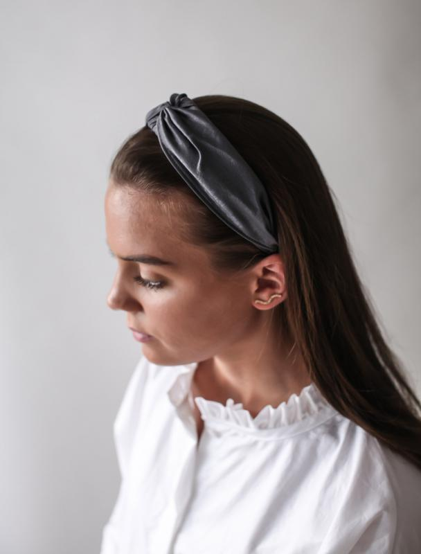 HEADBAND SILK LAVA GREY