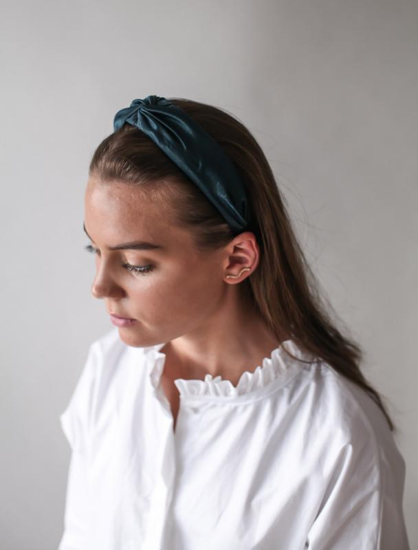 HEADBAND SILK TEAL