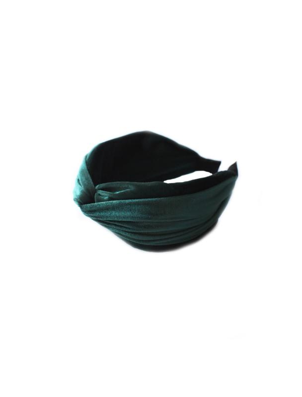 HEADBAND WIDE VELVET GREEN