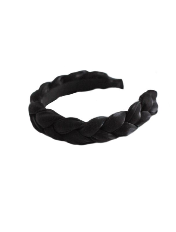 HEADBAND BRAIDED ORGANZA BLACK