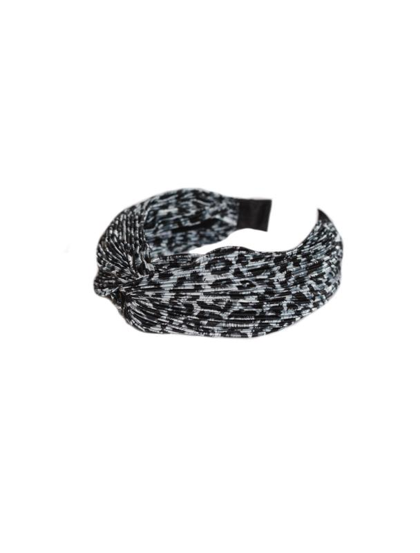 HEADBAND PLEATED LEO SILVER
