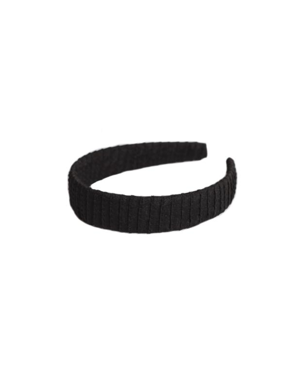 HEADBAND FLAT GROSGRAIN BLACK