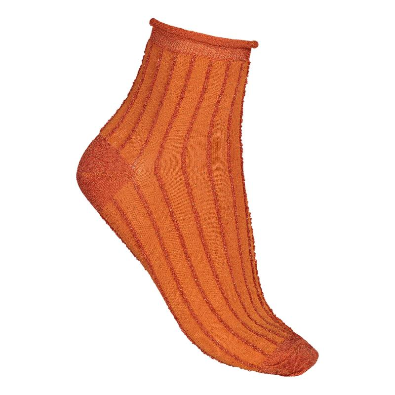 TWO PACK SOCKS SPARKLE ORANGE