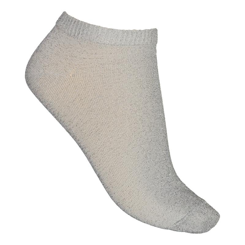 TWO PACK SOCKS GLITTER GREY