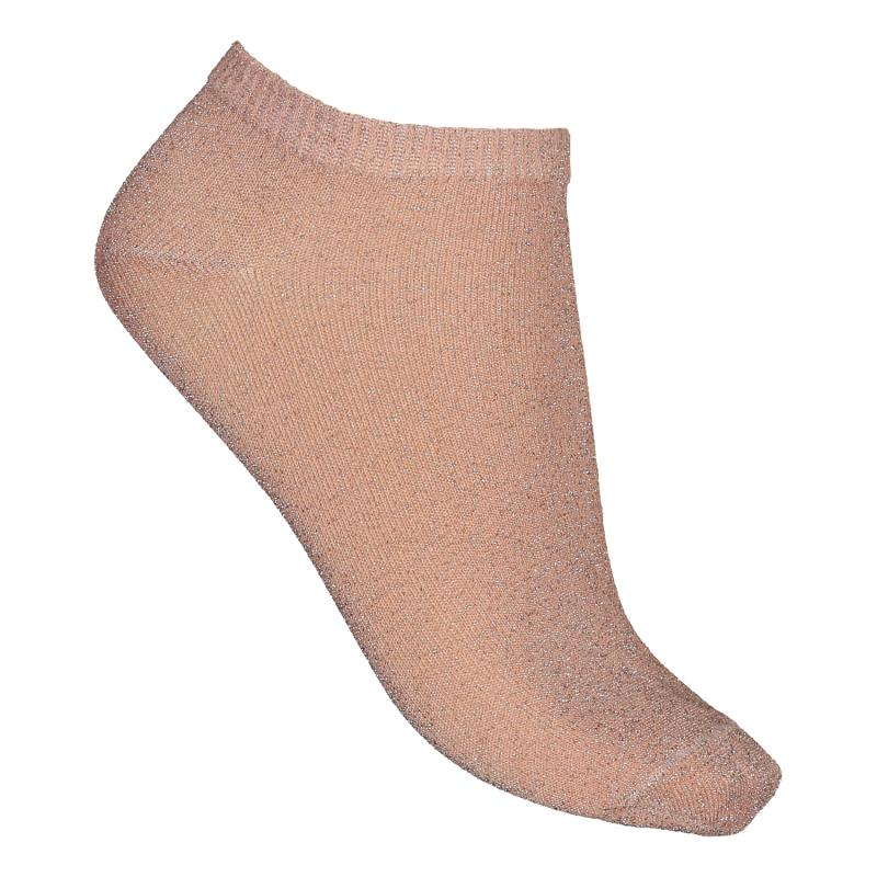 TWO PACK SOCKS GLITTER MAUVE