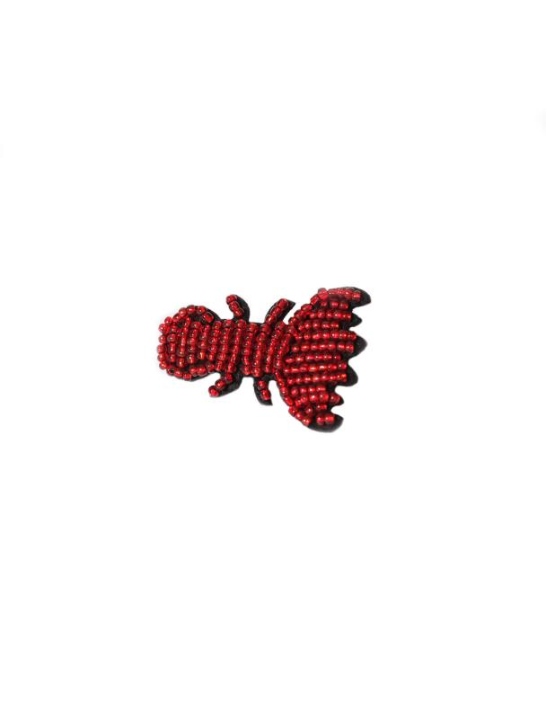 BROOCH BEADED CRAYFISH