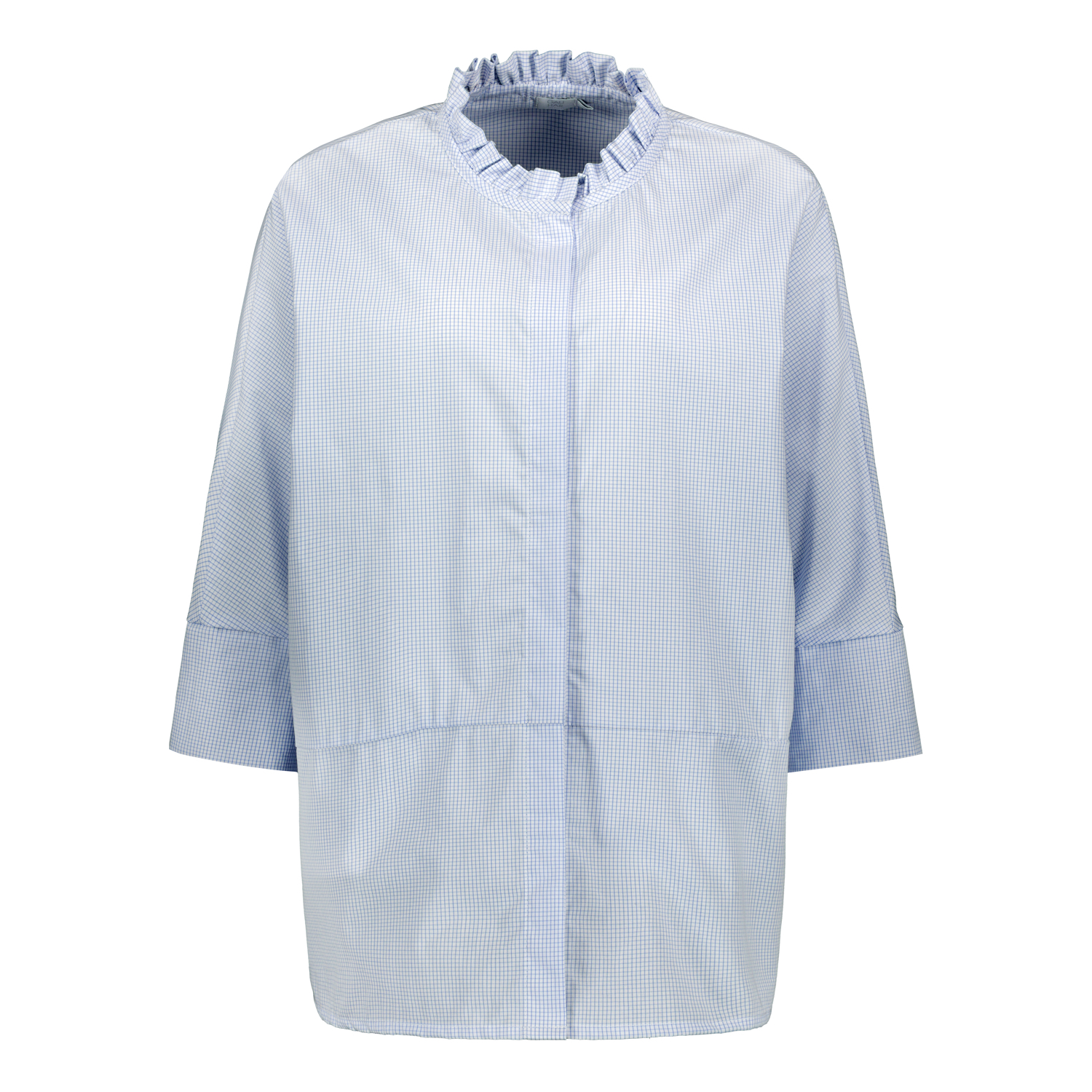 TUNIC SHIRT CHECK LIGHT BLUE