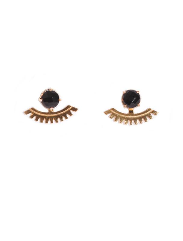 SIENNA EARRINGS GOLD AND BLACK ONYX