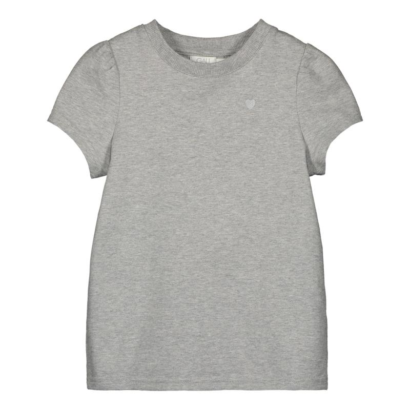 T-SHIRT PUFF SHOULDER GREY MELANGE COTTON GIRLS