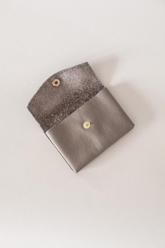 LEATHER WALLET TAUPE