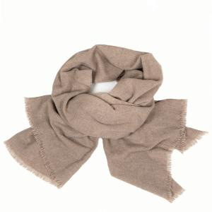 WOVEN CASHMERE SCARF BEIGE