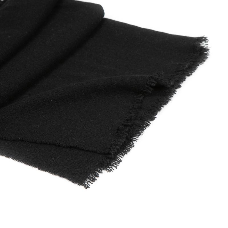 WOVEN CASHMERE SCARF BLACK