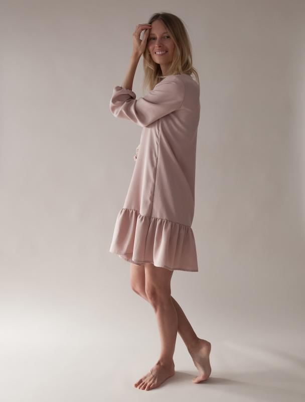 FRILL DRESS BLUSH S