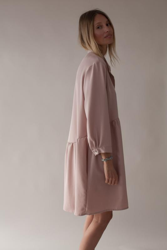 SHIRT DRESS BLUSH XS/S